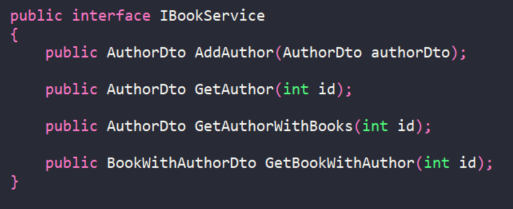IBookService interface definition from Mapping Demo