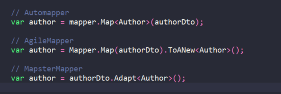 Basic use of each object mapper