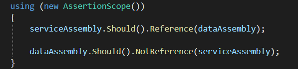 Use of Reference() and NotReference() extension methods